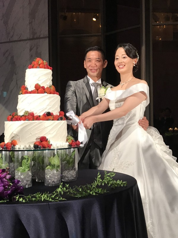 石渡選手の結婚式写真