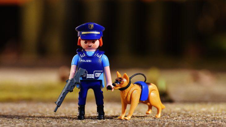 警察犬の写真